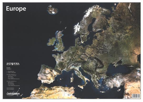 Európa / Svet - satelitná (A3)
